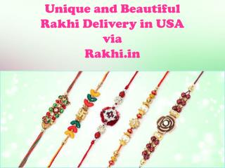 Unique and Beautiful Rakhi Delivery in USA via Rakhi.in!