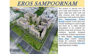 Get Affordable Eros Sampoornam Flats in Noida