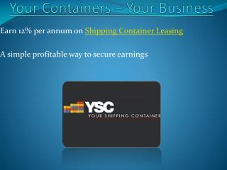 Shipping Container Leasing Business in Australia-YSC