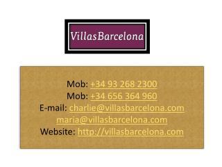 Villas In Barcelona