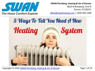 5 Signs You Need A New Heating System in Denver