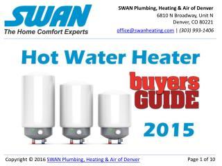 Denver Buyers Guide: Hot Water Heaters 2016