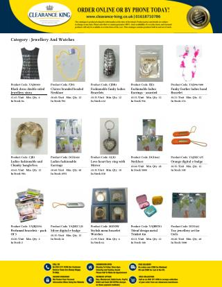 Purchase Online Wholesale Jewellery & Watches at Clearance King