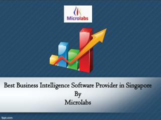 Best business intelligence software provider in singapore