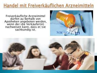 Handel mit freiverkäuflichen Arzneimitteln