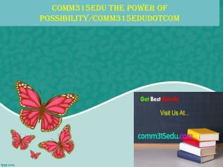comm315edu The power of possibility/comm315edudotcom