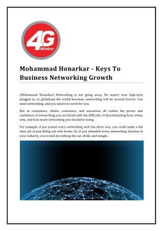 Mohammad Honarkar - Keys To Business Networking Growth