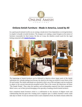Onlione Amish Furniture - Made in America, Loved by All