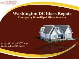 Commercial Establishment Glass Repair Services