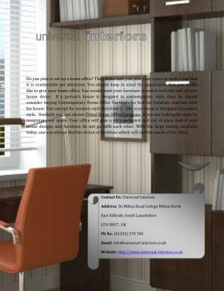 Find fitted Home Office Furniture in UK