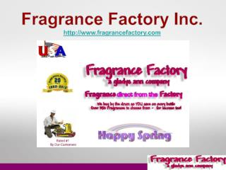 Fragrance Oils - Wholesale Supplies