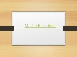 Muslin Backdrops
