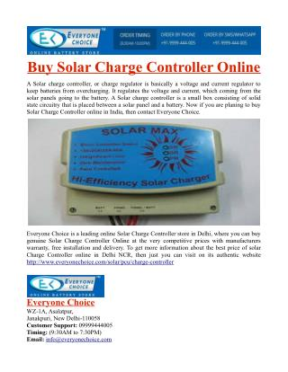 Buy Solar Charge Controller Online