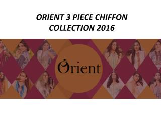 Orient Textiles 3 Piece Chiffon Collection 2016