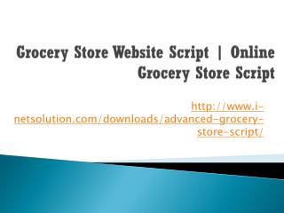 Grocery Store Website Script | Online Grocery Store Script