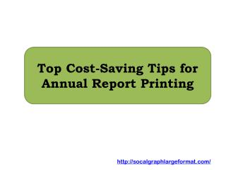 Top Cost-Saving Tips for Annual Report Printing