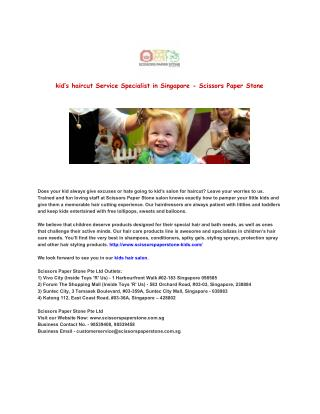 kid's haircut Service Specialist in Singapore - Scissors Paper Stone