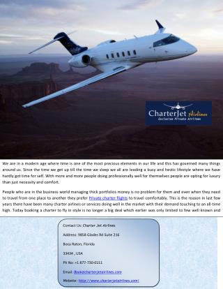 Private Jet Charter at Affordable Rates