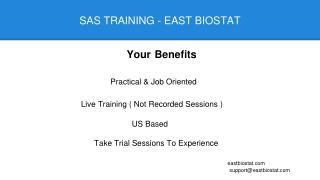SAS Training | Job Oriented | East Biostat USA