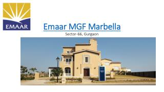 Emaar MGF Marbella Golf course Extension Road Gurgaon