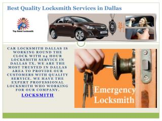 Best Quality Locksmith Services In Dallas