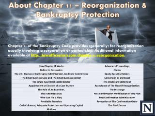 About Chapter 11 – Reorganization & Bankruptcy Protection
