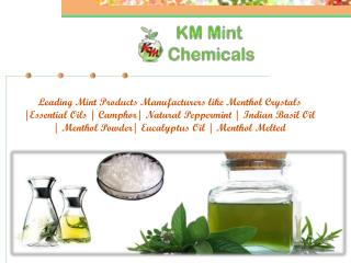 Essential Oils Manufacturers