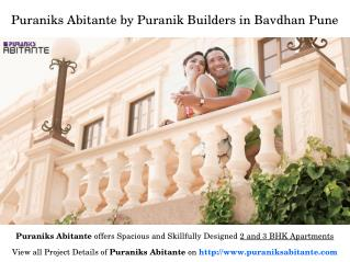 Residential Flats at Puraniks Abitante in Bavdhan Pune for Sale