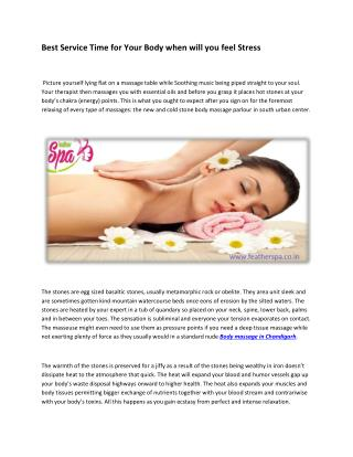 Best Service Time for Your Body when will you feel Stress