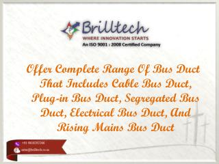 Segregated Bus Duct Manufacturers