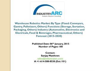 Warehouse Robotics Market: Latest Analysis Report (2015 - 2020)