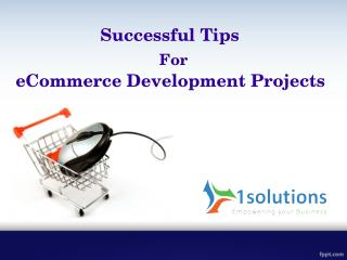 Successful Tips For A eCommerce Development Projects