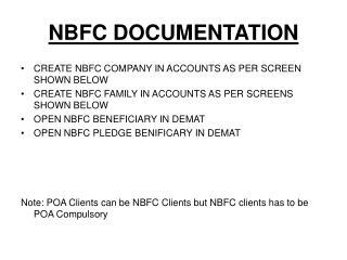 NBFC DOCUMENTATION