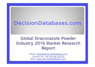 Global Itraconazole Powder Market and Forecast Report 2016-2021