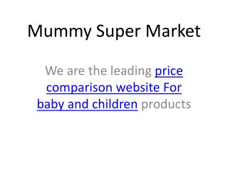 compare baby products