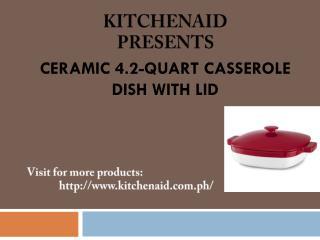 KitchenAid�s Ceramic 4.2-Quart Casserole Dish with Lid