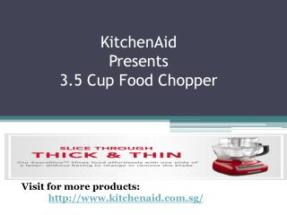 KitchenAid's 3.5 Cup Food Chopper