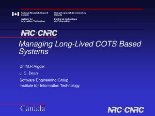 Managing Long-Lived COTS Based Systems