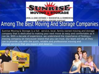 Among The Best Moving And Storage Companies.