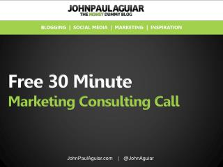Offering A Free 30 Minute Marketing Consulting Call