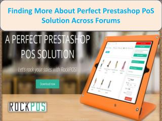 Finding More About Perfect Prestashop PoS Solution Across Forums