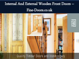 Internal and external wooden front doors – fine doors.co.uk