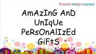 Get Your Own Personalised Gifts Today