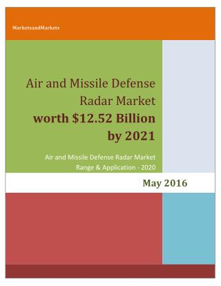 AMDR Market  worth 12.52 Billion USD by 2021
