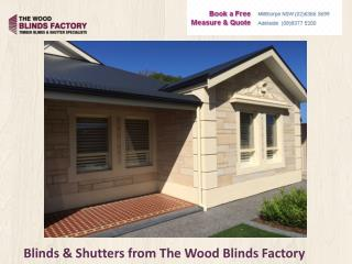 Blinds & Shutters from The Wood Blinds Factory