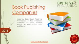 Greenivy Books Book Publishing Companies