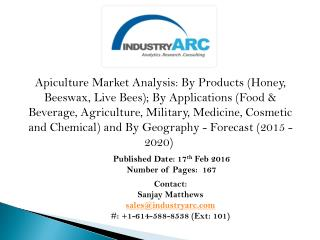 Apiculture Market: honey production expected to continue to be in demand thus continues to drive the global apiculture