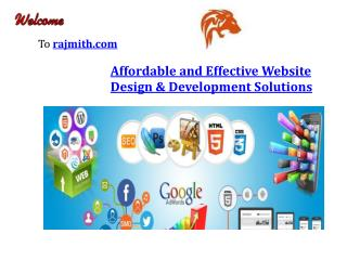 Affordable and effective website design & development solutions-rajmith.com