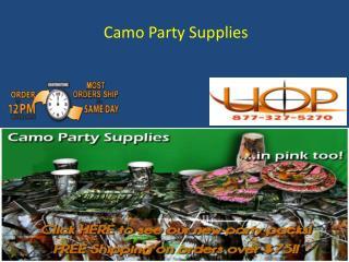 Camo Party Supplies