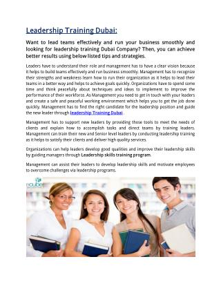 Ecube Training – Strategic partnership in Dubai,UAE